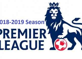 England Premier League fixtures for 2018-2019 season