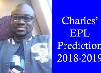 Charles' EPL Predcition