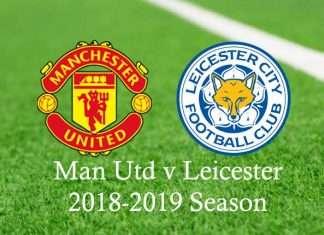 Manchester United v Leciester 2018-2019 season