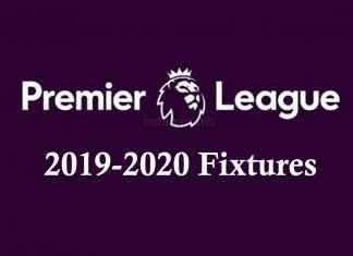 Premier League 2019-2020 Fixtures